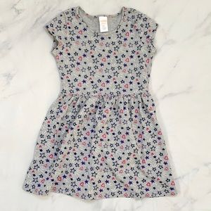 Gymboree Grey Stars Hearts Short Sleeve Dress